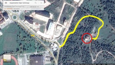 Локација на просториите на ЈУНП Галичица во Охрид